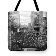 Wwi, Ruins Of Arras Cathedral Tote Bag