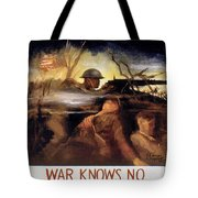 Wwii: Color Line Poster Tote Bag