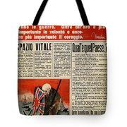 Wwii: Italian Newspaper Tote Bag