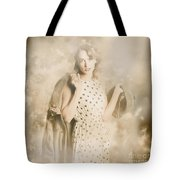 Wwii Tour Of Duty Pin-up Woman Tote Bag