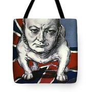 Wwii:churchill Poster 1942 Tote Bag
