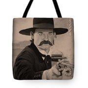 Wyatt Earp - Kurt Russell B And W Tote Bag