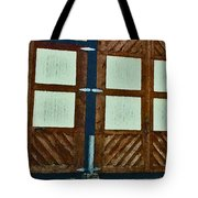Wyoming Garage Abstract Tote Bag