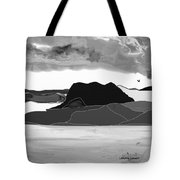 Wyoming Landscape 3 - B-w Tote Bag