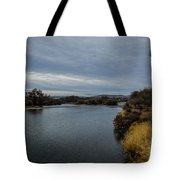 Wyoming Morning River Tote Bag