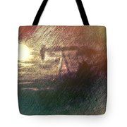 Wyoming Pump Jack Tote Bag
