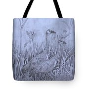 Wyoming Sandhill Cranes Tote Bag
