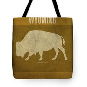 Wyoming State Facts Minimalist Movie Poster Art Tote Bag
