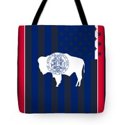 Wyoming State Flag Graphic Usa Styling Tote Bag