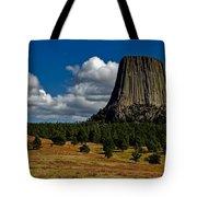 Wyoming's Devil's Tower Tote Bag