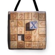 X Blocks Tote Bag