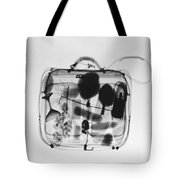 X-ray Of Suitcase Tote Bag by Science Source