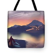 X-wing On The Horizon Tote Bag