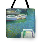 Xabia Harbour With Fishing Boats Tote Bag