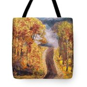 Xanthic View Fragmented Tote Bag