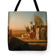 Xerxes At The Hellespont Tote Bag