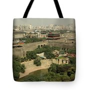 Xi'an City Wall With Skyline Tote Bag