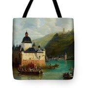 Xixth Century French School Pfalzgrafenstein Castle Tote Bag