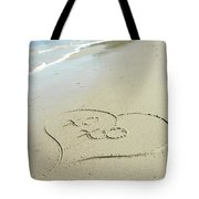 Xoxo - Message Written In The Sand Tote Bag