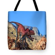 Xuanhanosarus In The Desert Tote Bag