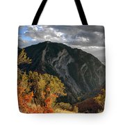 Y Mountain Above Provo Utah At Sunset Tote Bag