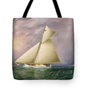 Yacht Race In New York Harbor Tote Bag