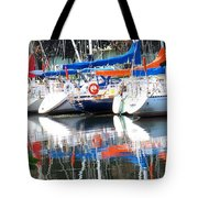 Yachts At Rest Tote Bag