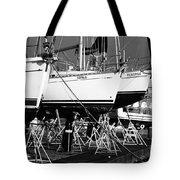 Yachts On Drydock Tote Bag