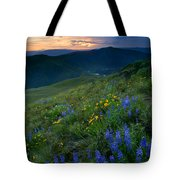 Yakima River Canyon Sunset Tote Bag