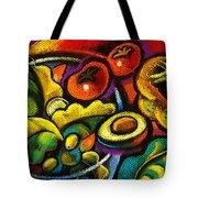Yammy Salad Tote Bag by Leon Zernitsky