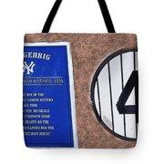 Yankee Legends Number 4 Tote Bag