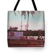 Yankee Town  Fishing Boat Tote Bag