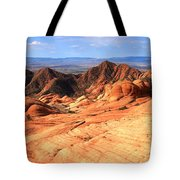 Yant Flat Candy Cliffs Panorama Tote Bag