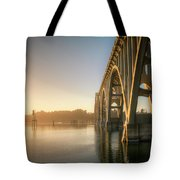 Yaquina Bay Bridge - Golden Light 0634 Tote Bag