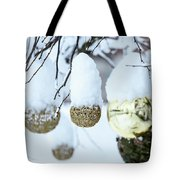 Yarn In The Snow Tote Bag