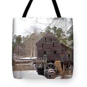 Yates Mill In Winter Tote Bag