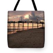 Yaupon Pier Sunset Tote Bag