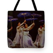 Year Of The Dog Umbrella Dance Tote Bag