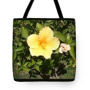 Yello Hibiscus Tote Bag