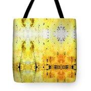 Yellow Abstract Art - Good Vibrations - By Sharon Cummings Tote Bag
