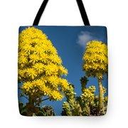 Yellow Aeonium Tote Bag
