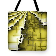 Yellow And Black 3 Tote Bag