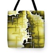 Yellow And Black 4 Tote Bag