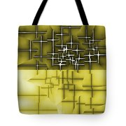 Yellow And Black 5 Tote Bag