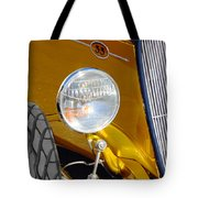 Yellow And Blue Hot Rod Headlight Tote Bag