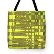 Yellow And Brown Lines Tote Bag