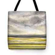 Yellow And Gray Seascape Art Tote Bag