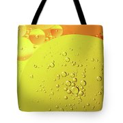Yellow And Orange Oil Droplet On Water Tote Bag