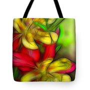 Yellow And Red Columbines Tote Bag