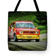 Yellow And Red Fiat 127 Tote Bag